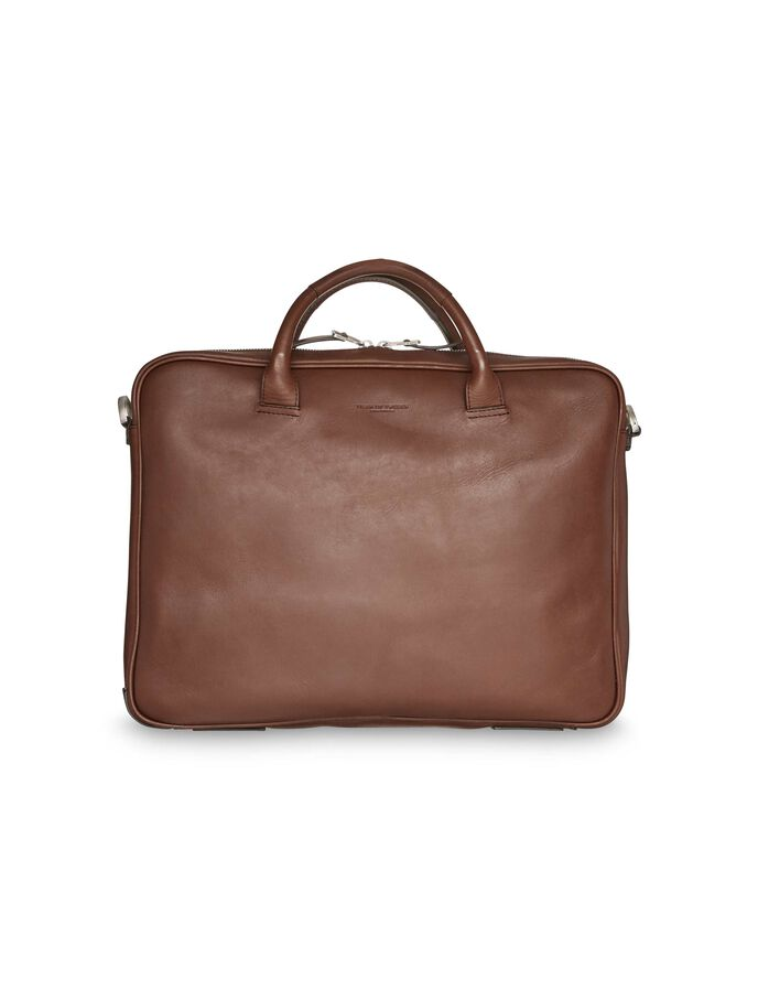 ACCORD BRIEFCASE in Golden Brown from Tiger of Sweden