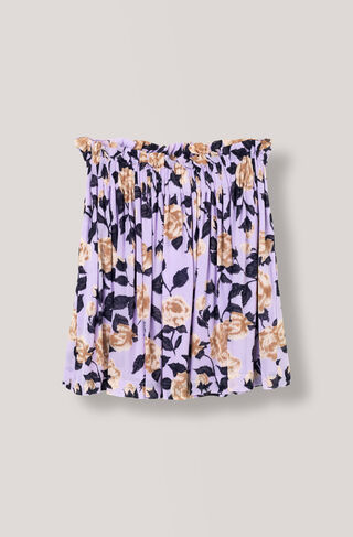 Carlton Georgette Skirt, Pastel Lilac, hi-res