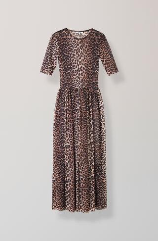 Peirce Mesh Maxi Dress, Leopard, hi-res