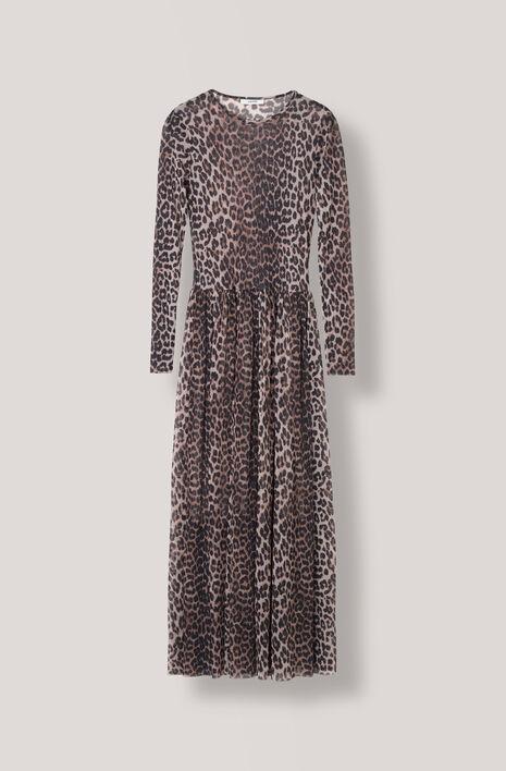 Tilden Mesh Maxi Dress, Leopard, hi-res
