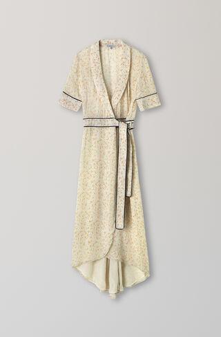 Clermont Georgette Wrap Dress, Meadow Flowers, hi-res