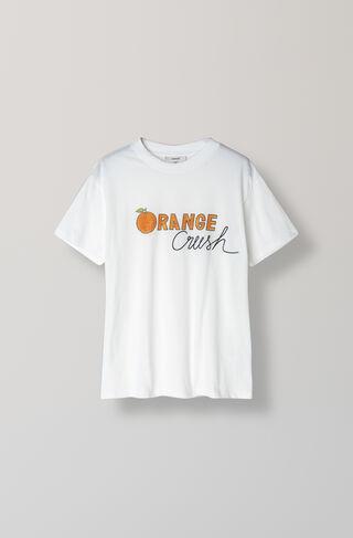 Harway T-Shirt, Orange Crush, Bright White, hi-res