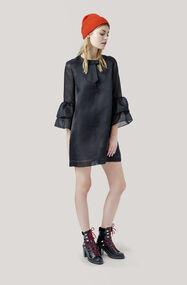 Seneca Silk Dress, Black, hi-res