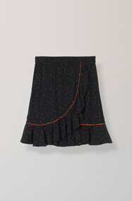 Emory Crepe Skirt, Black, hi-res