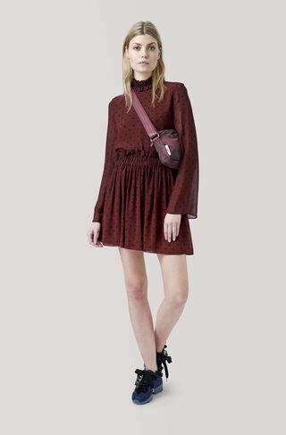 Carlton Georgette Skirt, Decadent Chocolate, hi-res