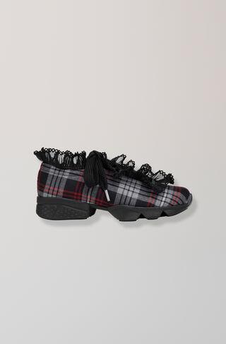 Fergus Tartan Sneakers, Black, hi-res
