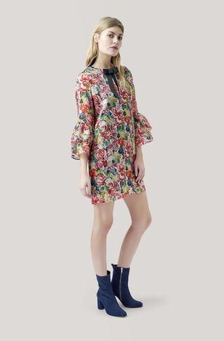 Seneca Silk Dress, Multicolour, hi-res