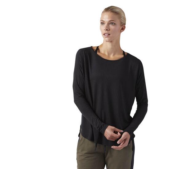 Reebok - Training Supply Long Sleeve Tee Black CF8657