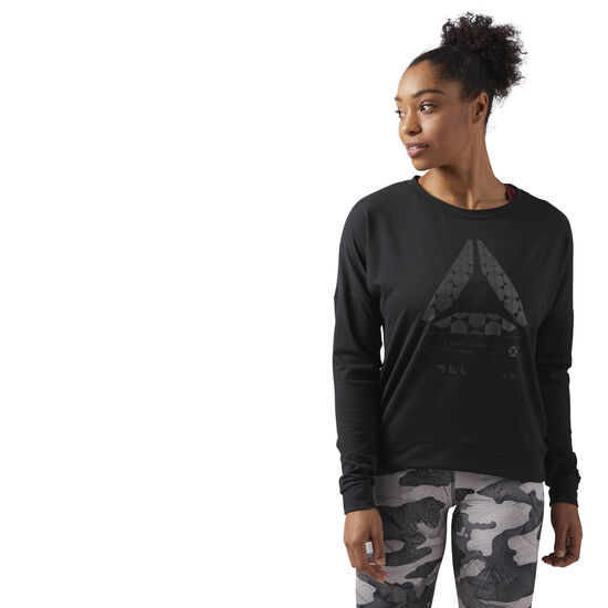 Reebok - Speedwick Crew Neck Sweatshirt Black CF5851