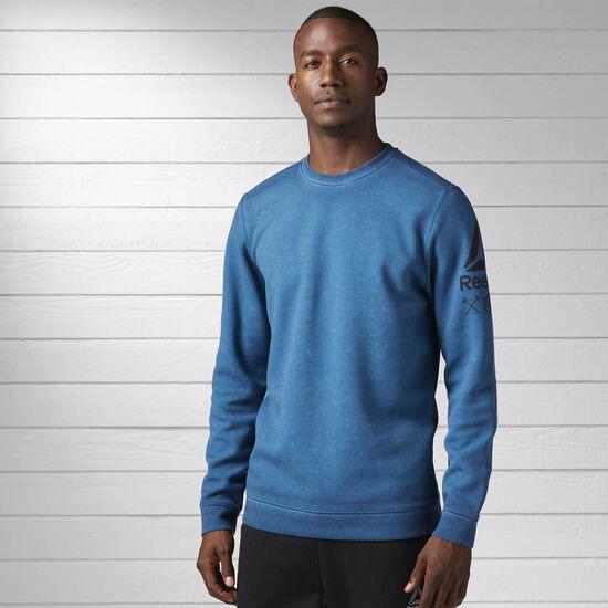 Reebok - Quik Cotton Dirty Wash Crew Sweatshirt Emerald Tide BK3991