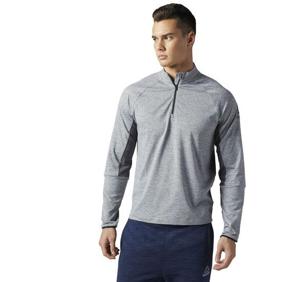 Reebok - Running Long Sleeve Quarter Zip Pullover Clogrey BR2051