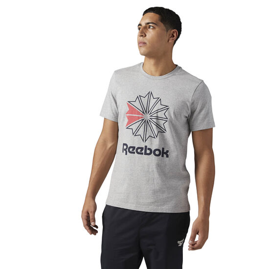 Reebok - Reebok Classics Big Logo Tee Medium Grey Heather BQ3499