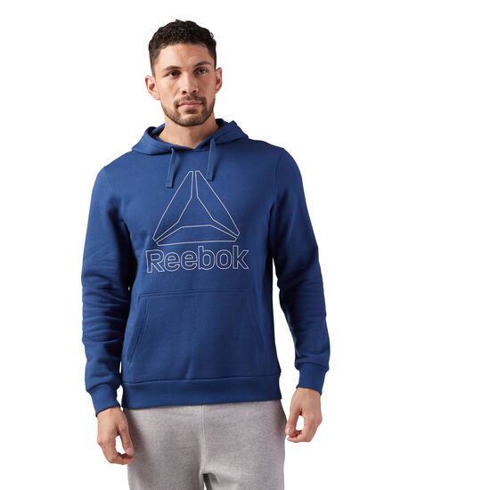 Reebok - Reebok Elements Logo Hoodie Washed Blue CD5532
