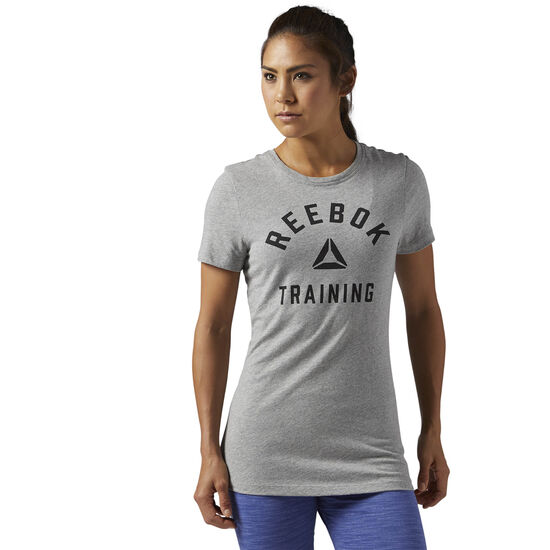 Reebok - Training Crewneck Tee Medium Grey Heather CD9614