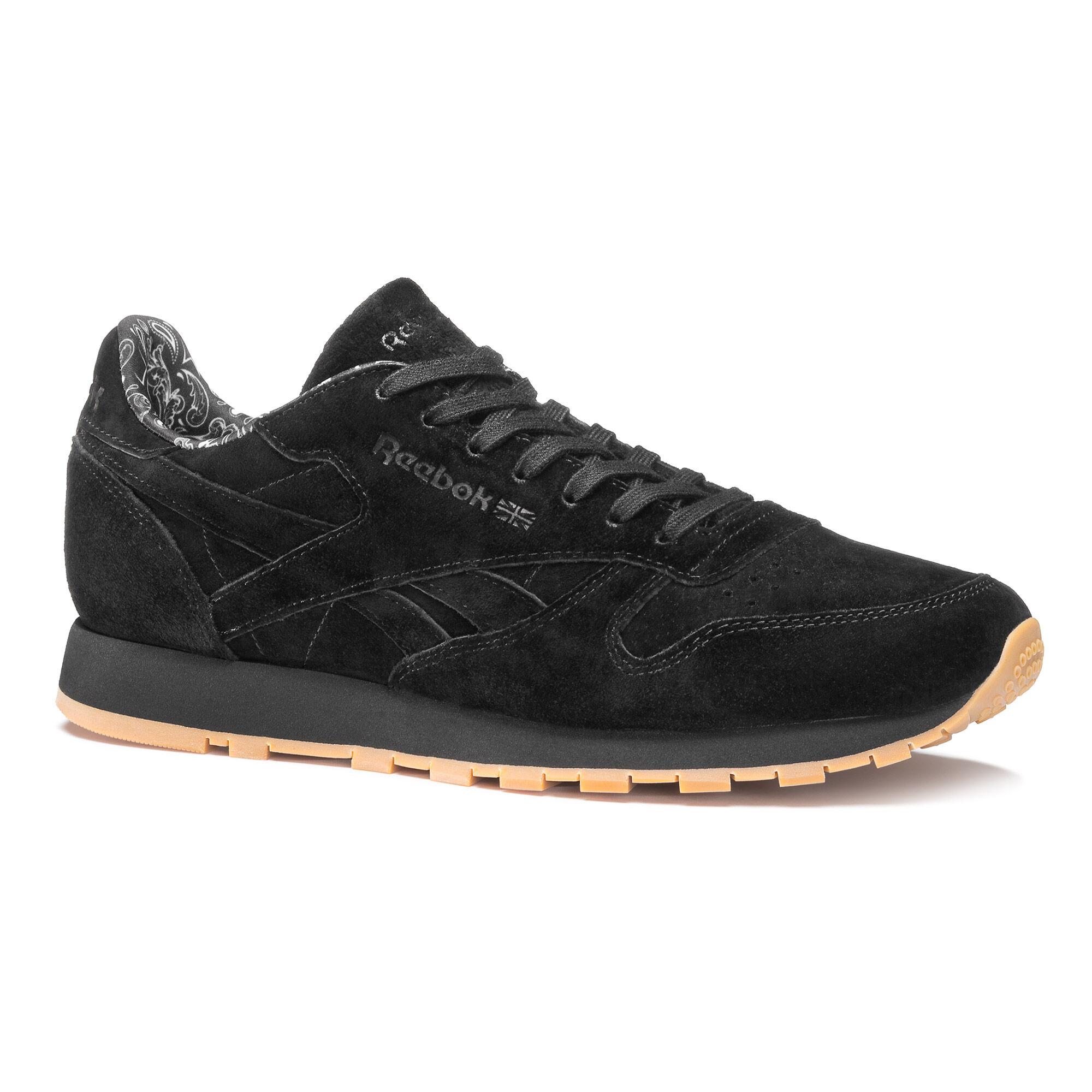 reebok classic black leather gum sole