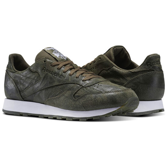 Reebok - Classic Leather Celebrate the Elements Pack Army Green/White BS5258