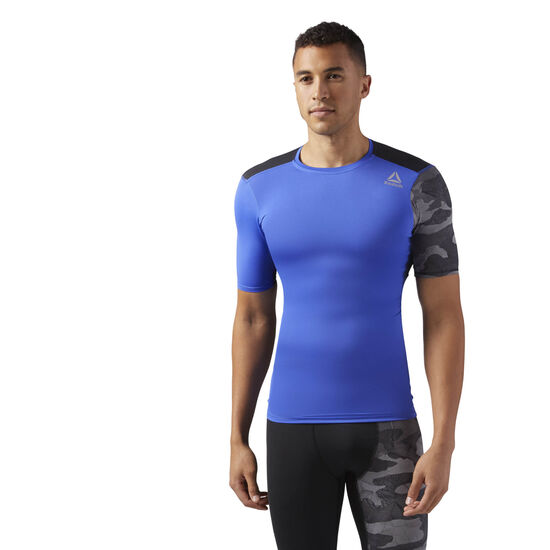 Reebok - ACTIVCHILL Graphic Compression Tee Acid Blue CF2978