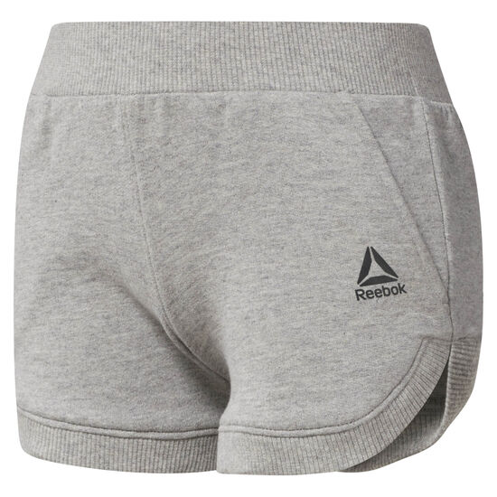 Reebok - Girl's Workout Ready French Terry Shorts Medium Grey Heather CF4249