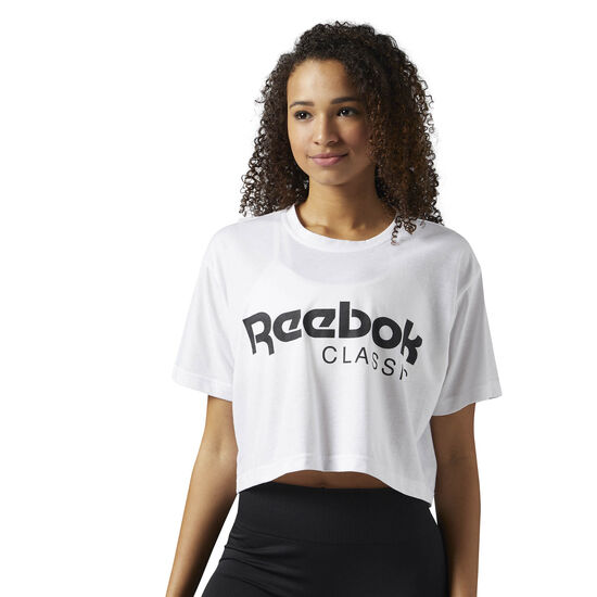Reebok - Reebok Classics Cropped Graphic Tee White BR7307