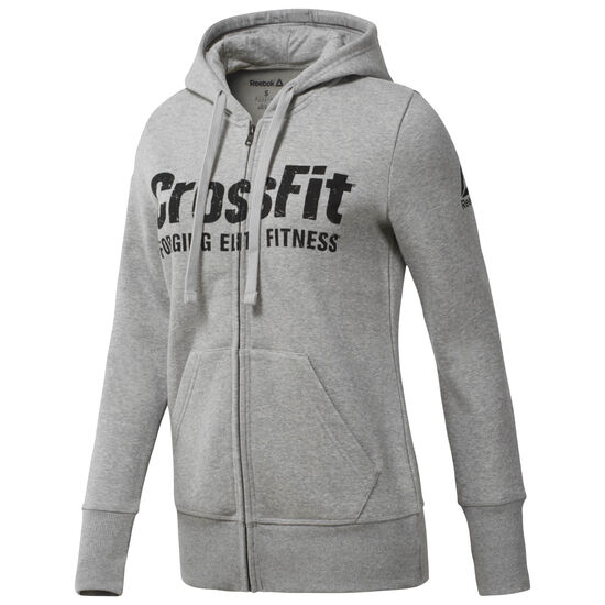 Reebok - Reebok CrossFit Full Zip Hoodie Medium Grey Heather CF5764