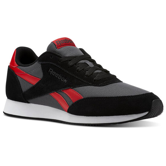 Reebok - Reebok Royal Classic Jogger 2 Black/Ash Grey/Primal Red/White CN0460