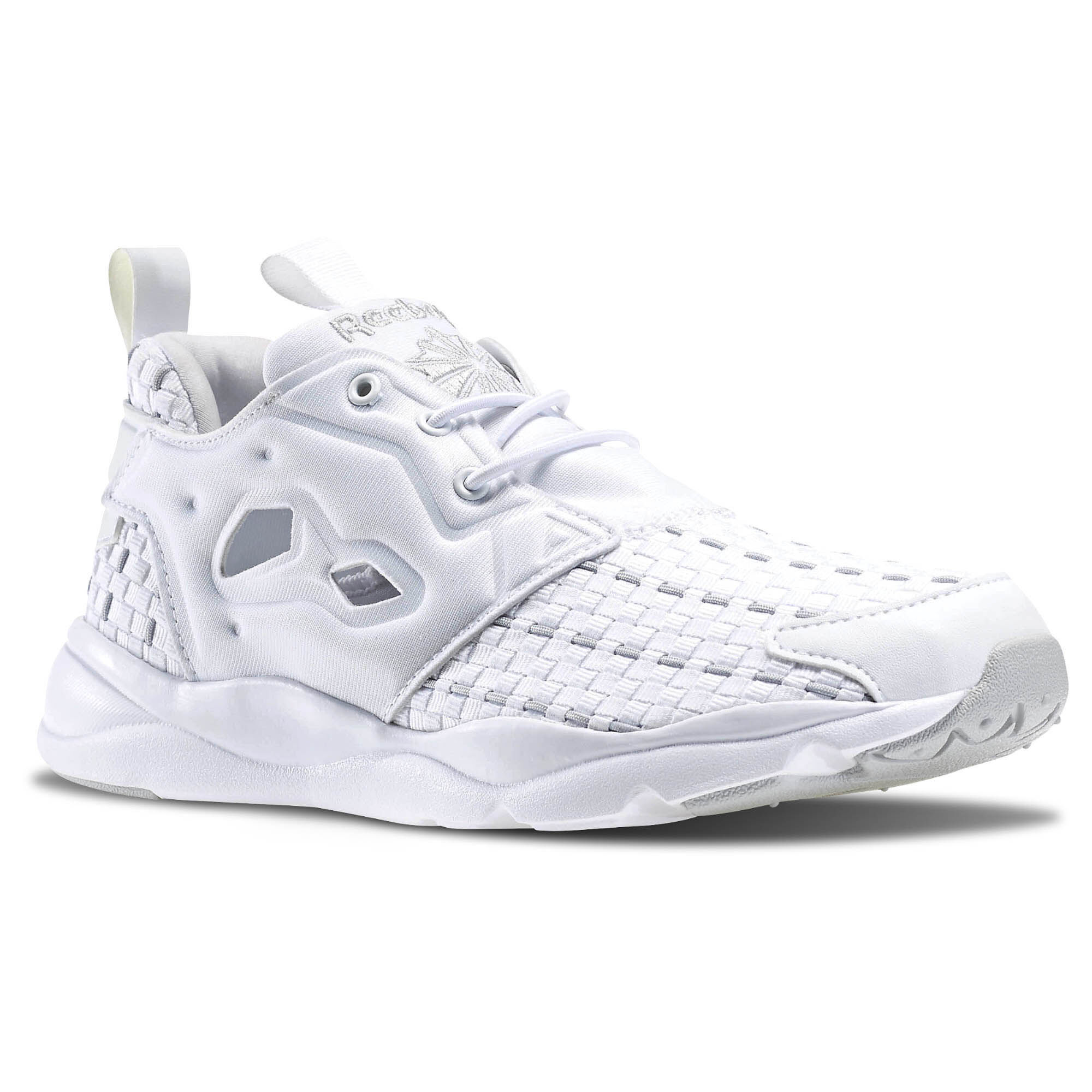 all white reebok furylite