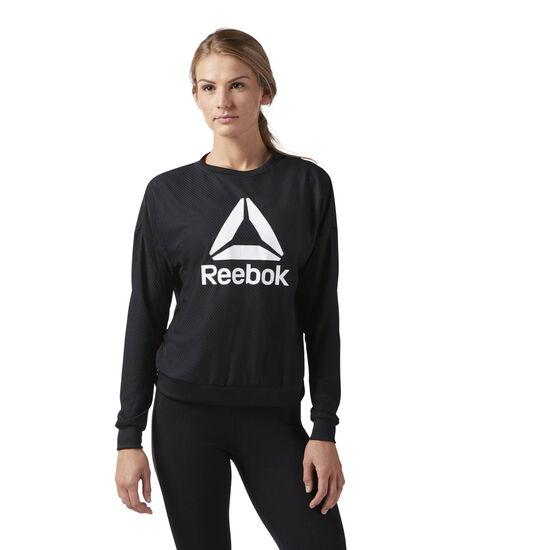 Reebok - Workout Ready ACTIVChill Crew Neck Sweatshirt Black CD5957