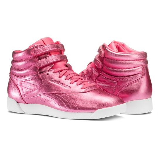 Reebok - Freestyle Hi Metallic Sharp Pink/White CN0960