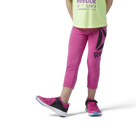 Reebok - Girls Essentials 7/8 Legging Charged Pink/Black BS1322