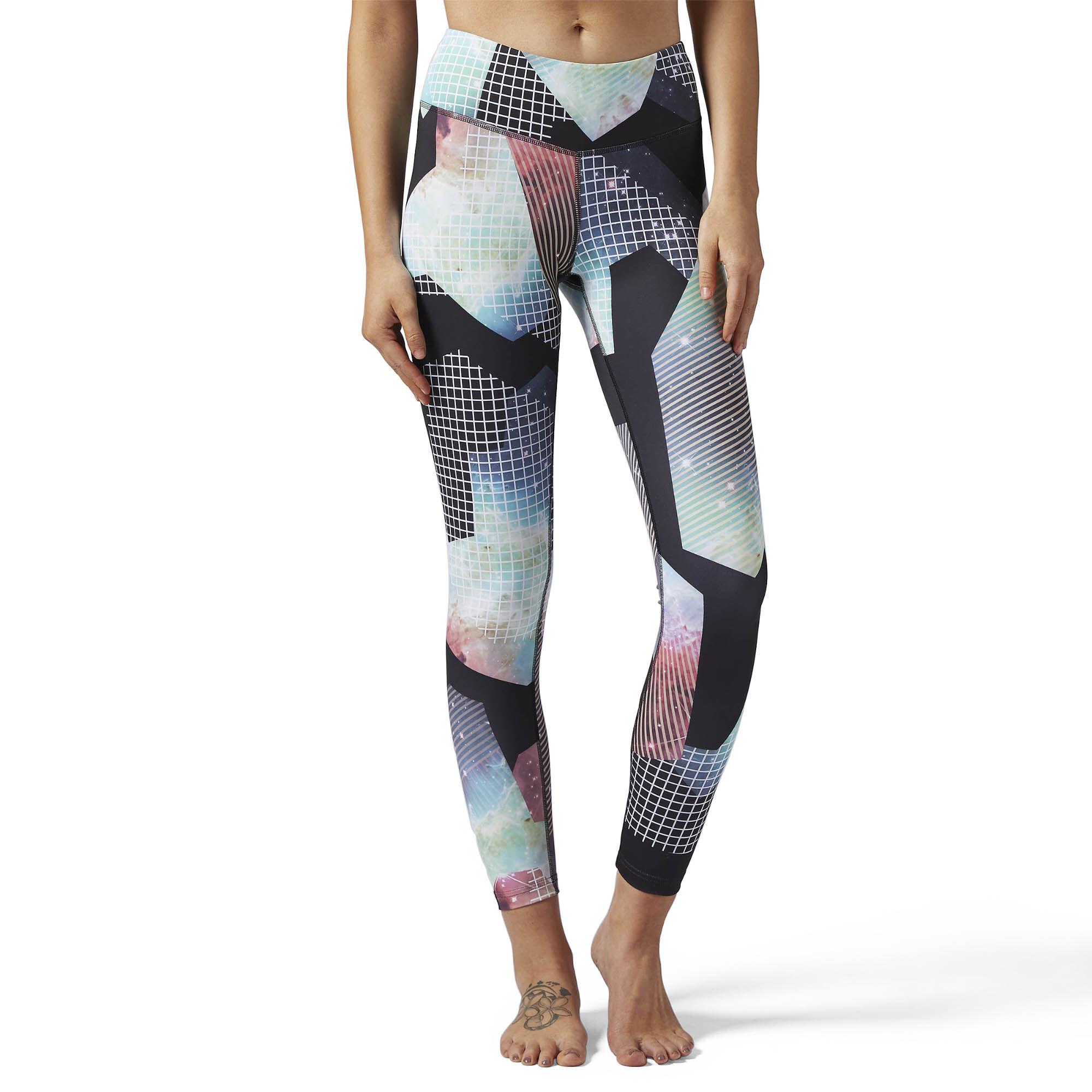 Reebok Lux Bold Leggings - Brilliant Print - Multicolour | Reebok ...