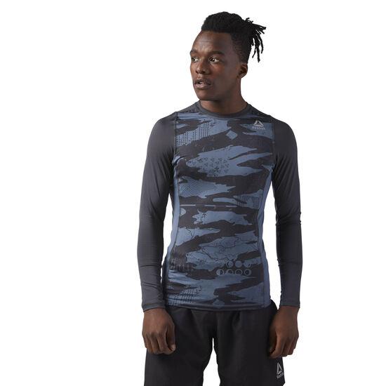Reebok - Long Sleeve Compression T-Shirt Paynes Grey CE0128