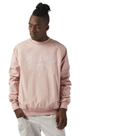 Reebok - Woven Cotton Crewneck Chalk Pink CE4997