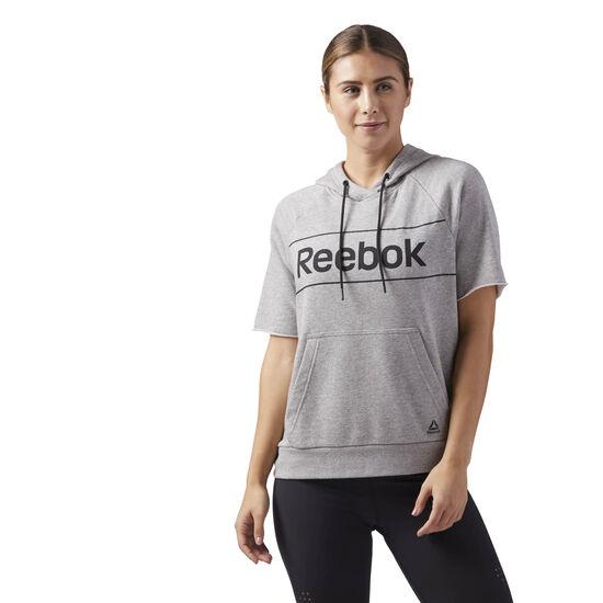 Reebok - Workout Ready Short Sleeve Hoodie Medium Grey Heather CE4501