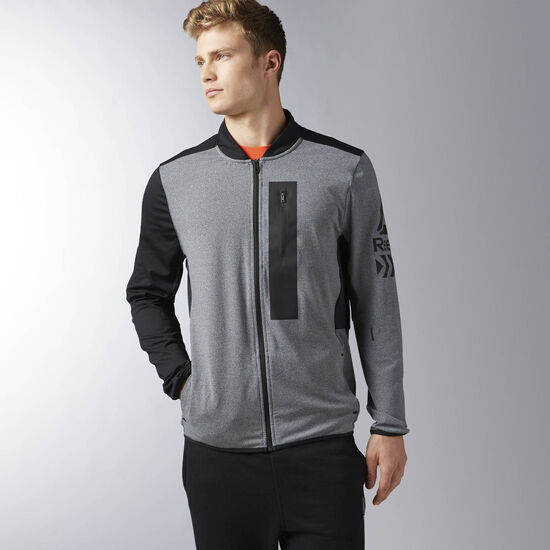 Reebok - Brushed Track Jacket Dark Grey Heather BK4507