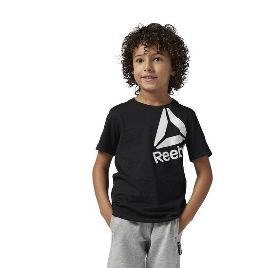Reebok - Boys Essentials Tee Black/Chalk BS1414