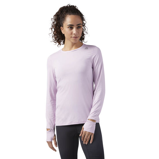 Reebok - ACTVChill Long Sleeve Running Shirt Pink/Moonglow CE4535