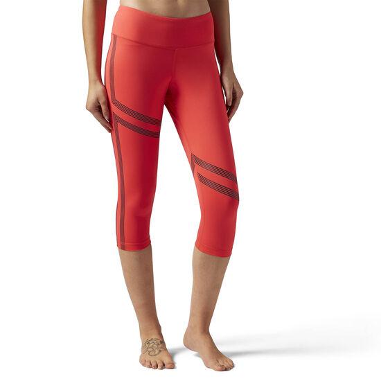 Reebok - Linear 3/4 Leggings Glow Red BR8996