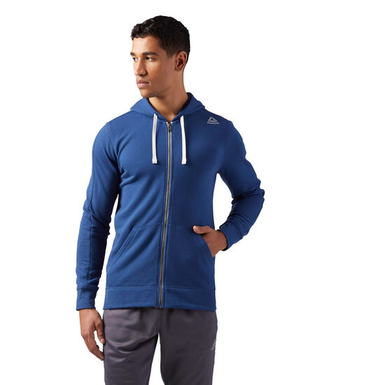 Reebok - Elements French Terry Full Zip Hoodie Washed Blue CE4757