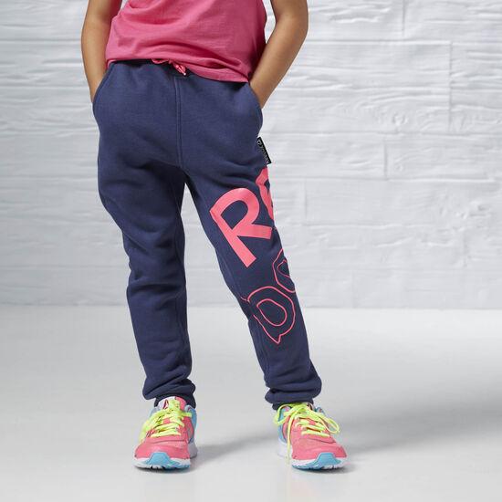 Reebok - Girl's Essentials Fleece Pant Blue Ink AY0675