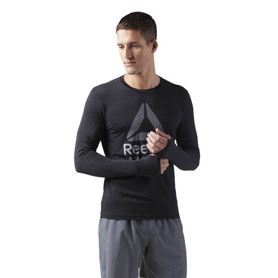 Reebok - Long Sleeve ACTIVCHILL T-Shirt Black CD5443