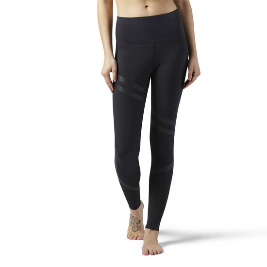 Reebok - Linear High Rise 3/4 Leggings Black BR9000