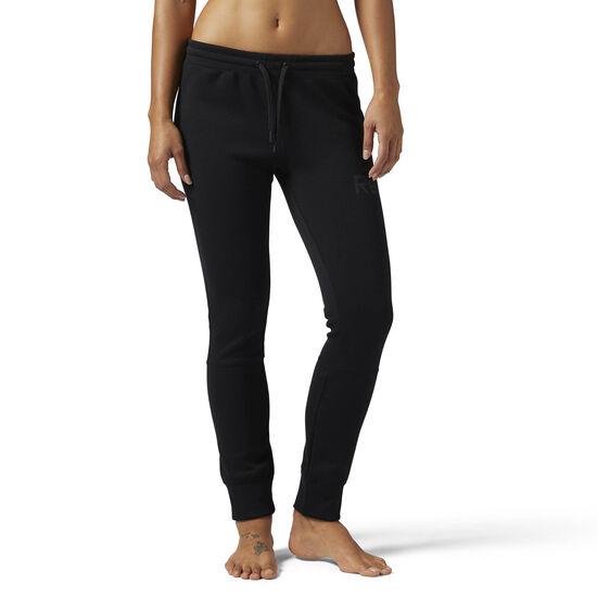 Reebok - QUIK Cotton Graphic Pants Black/Black CE5968