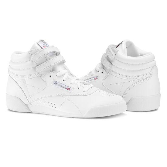 Reebok - Freestyle Hi - Children White/Silver CN2553