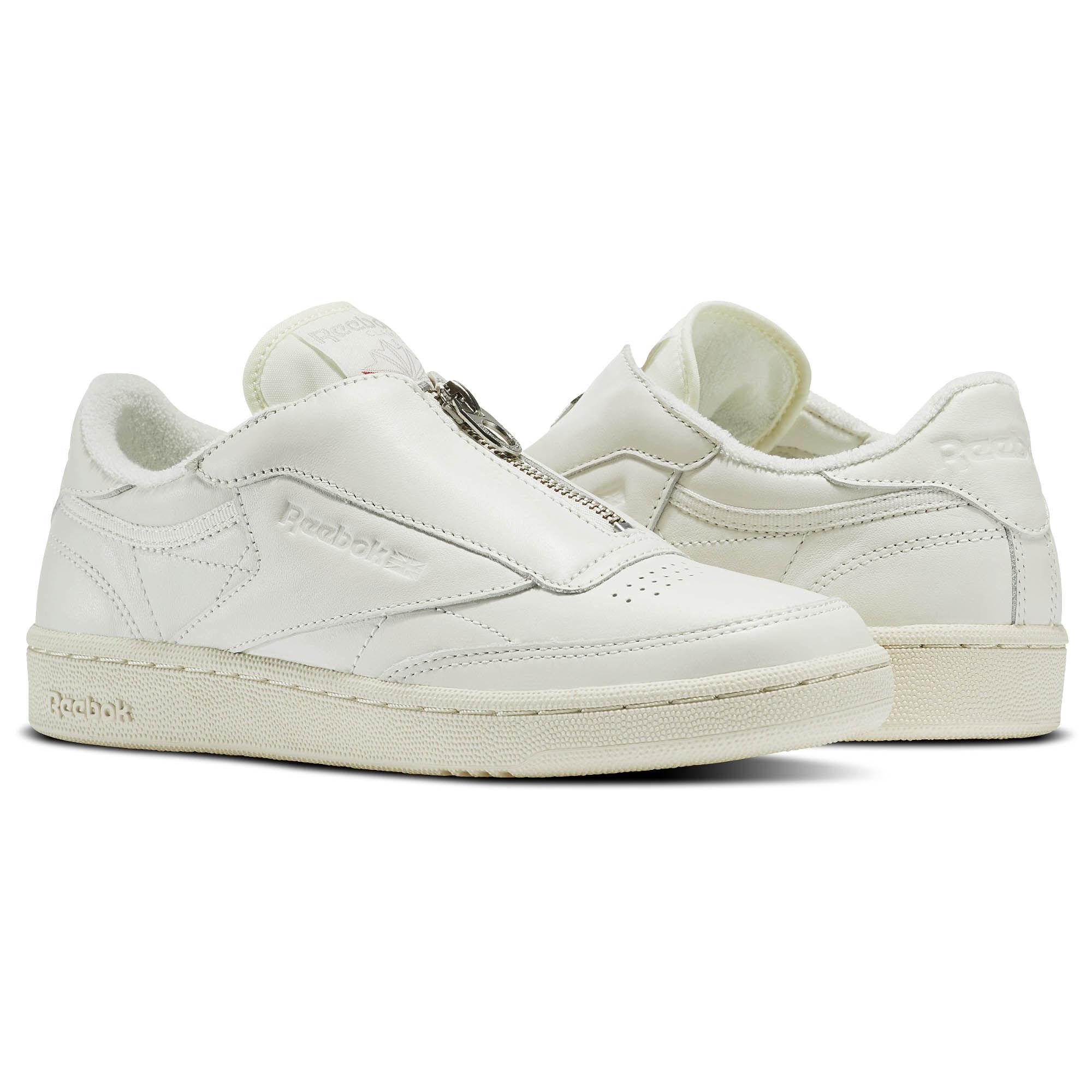 Buy Chalk Sandstone Reebok Club C 85 Zip Womens Shoes