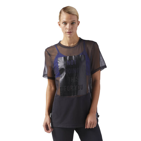 Reebok - Mesh Graphic T-Shirt Black CD3764