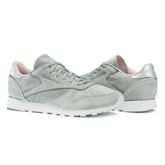 Reebok - Classic Leather Golden Neutrals Grey/Flint Grey/Silver BS7914