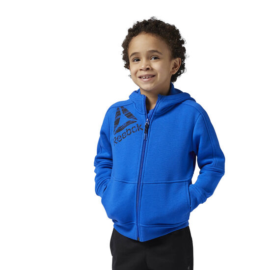 Reebok - Boy's Essentials Full Zip Fleece Hoodie Vital Blue BQ5148