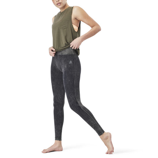 Reebok - Washed Seamless Legging Black CD3767