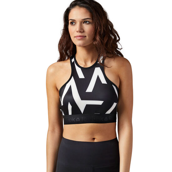 Reebok - Crop Top - Geo Print Black BQ8212