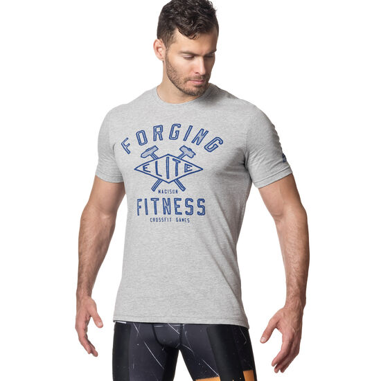 Reebok - Reebok CrossFit Games Forging Elite Fitness Diamond Tee Grey/Black DN8124